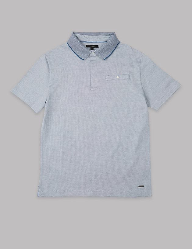 abbf6f117 Pure Cotton Jacquard Polo Shirts (3-16 Years)