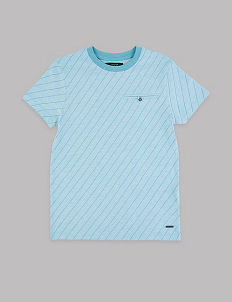 Pure Cotton Jacquard T-Shirt (3-16 Years)