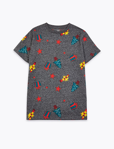 Christmas Print T-Shirt (3-16 Years)