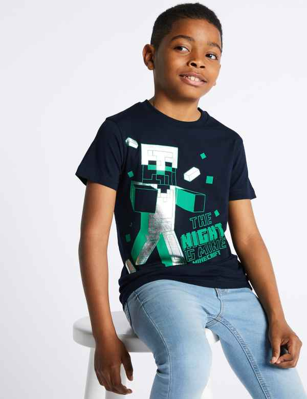 c7cc22647 Minecraft™ Pure Cotton T-Shirt (3-16 Years)