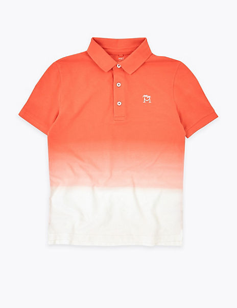 Pure Cotton Ombre Polo Shirt (6-16 Years)