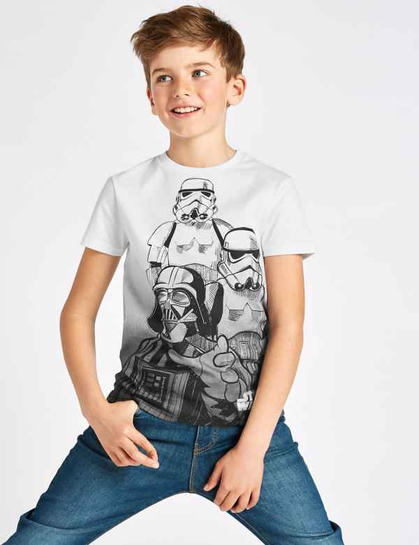 54ec40488a2f1a Star Wars™ Pure Cotton T-Shirt (3-16 Years)