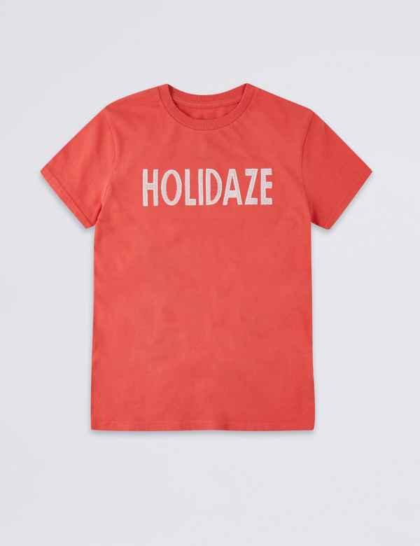 56243fd0f0e0 Pure Cotton Holidaze T-Shirt (3-16 Years)