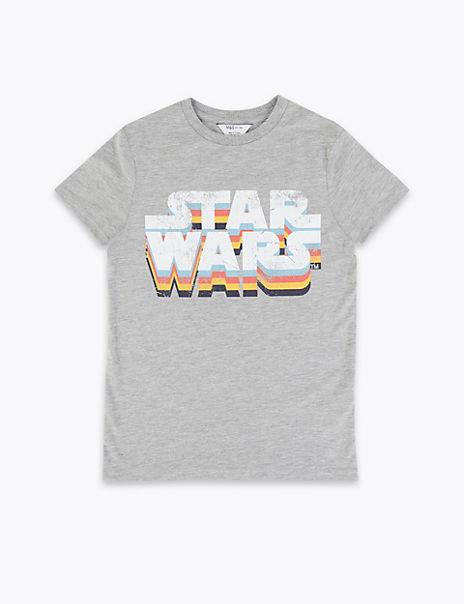Cotton Star Wars T-Shirt (3-16 Years)