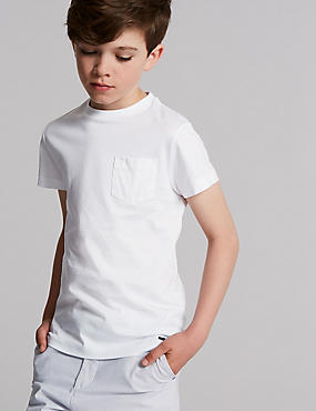 Mercerised Pocket T-Shirt (3-16 Years)