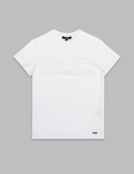 Mercerised Pocket T-Shirt (3-16 Years)