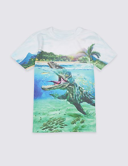 Water Saurus Print T-Shirt (3-16 Years)