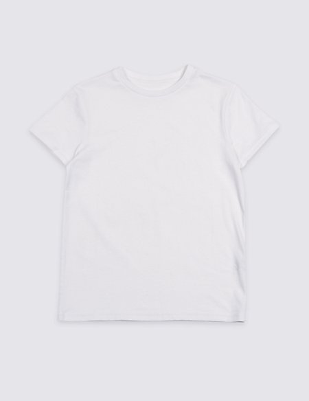 Pure Cotton Short Sleeve Top (3-16 Years)