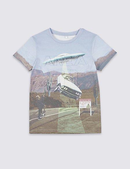 Cotton Blend T-Shirt (3-16 Years)
