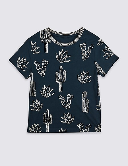 Pure Cotton Printed T-Shirt (3-16 Years)