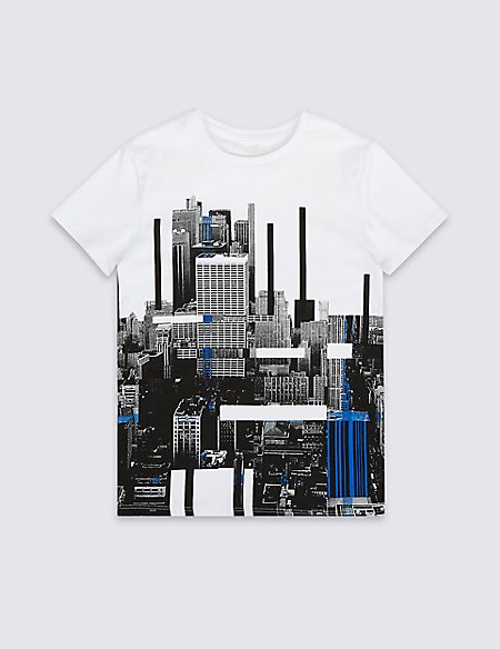 City View Pure Cotton T-Shirt (3-16 Years)
