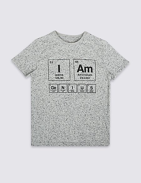 Printed Cotton Blend T-Shirt (3-16 Years)