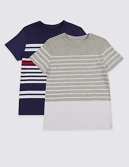 2 Pack Striped Tops (3-16 Years)