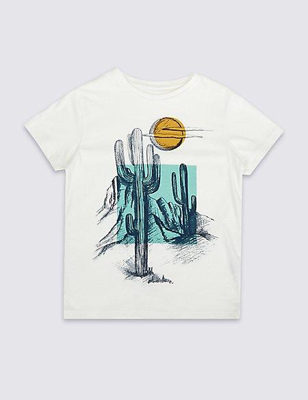 Graphic Cactus T-Shirt (3-16 Years)