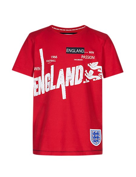 England FA Pure Cotton 3 Lions T-Shirt (5-14 Years)