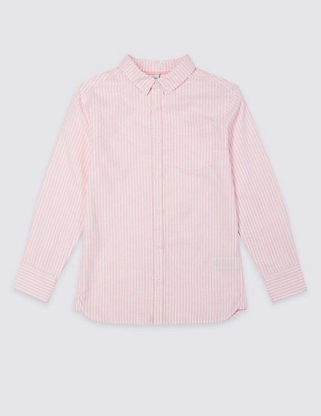 Pure Cotton Striped Shirt (3-16 Years)