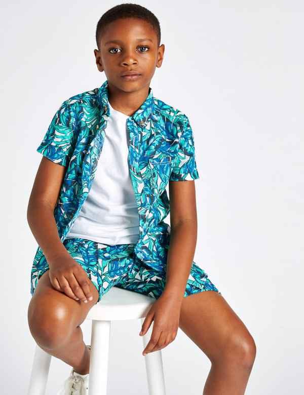 873a0b937a4 Cotton Blend Shirt (3-16 Years)