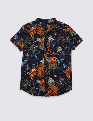 b15e3291 Boys' Casual Shirts | Checked & Hawaiian Shirts for Boys | M&S