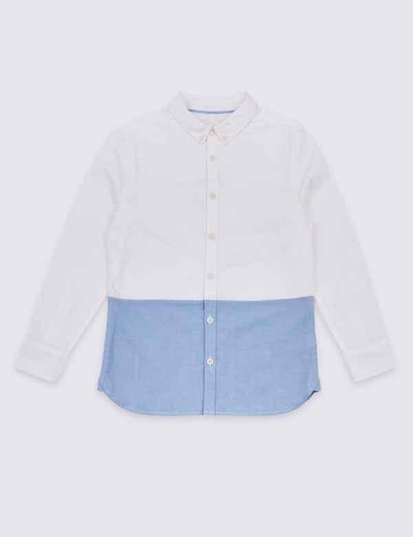 3d2fc178 Pure Cotton Colour Block Shirt (3-16 Years)