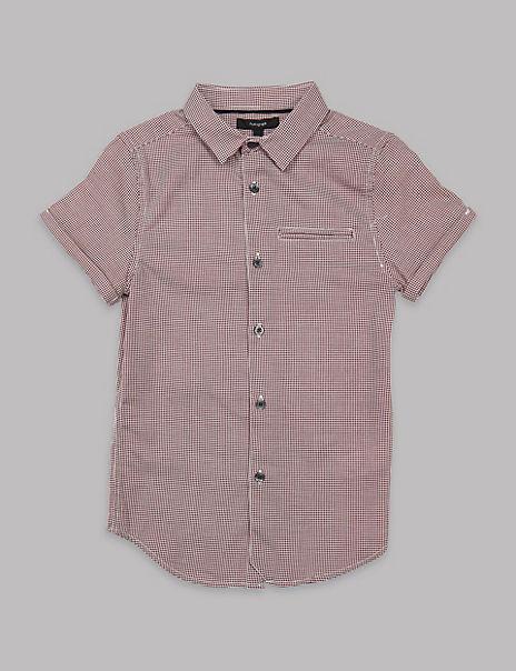 Pure Cotton Dobby Shirt (3-16 Years)
