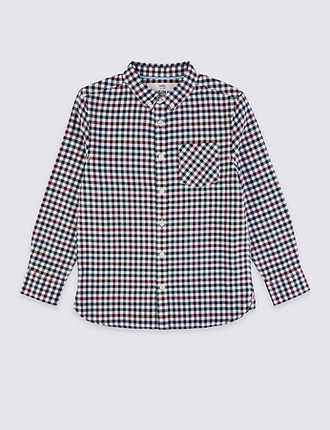 Cotton Checked Shirt (3-16 Years)