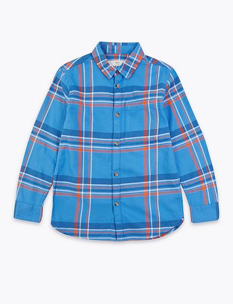 Cotton Checked Shirt (6-16 Years)