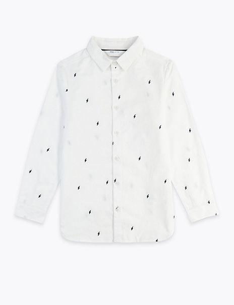 Cotton Lightning Print Shirt (3-16 Years)