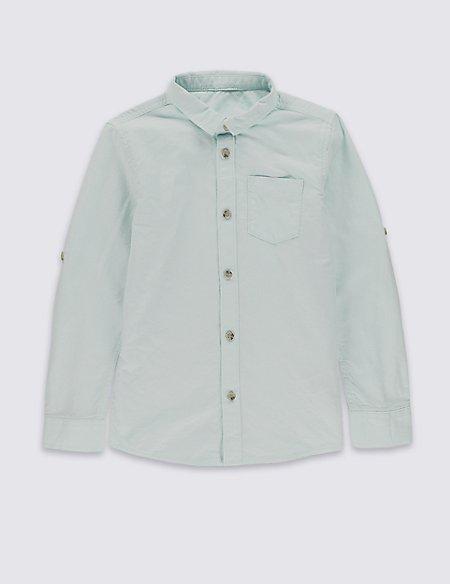 Pure Cotton Long Sleeve Shirt (3-14 Years)