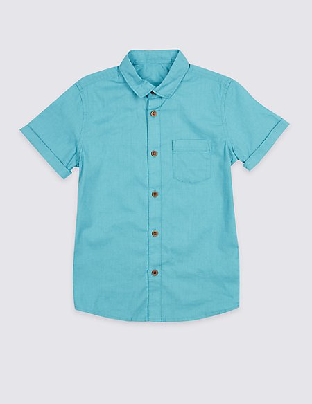 Linen Rich Shirt (3-16 Years)