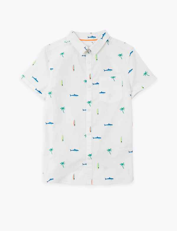 Boys New Polo T-Shirt 2-3 Years Old White /& Blue Button up Printed Trim Smart £5