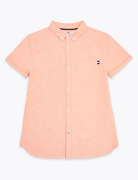 Cotton Short Sleeve Oxford Shirt (6-16 Years)