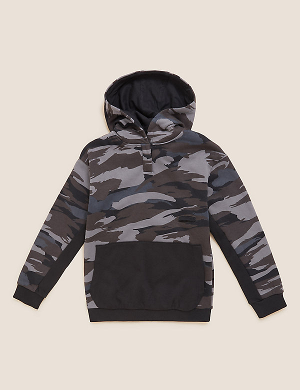 Adaptive Cotton Camouflage Hoodie (2-16 Yrs)