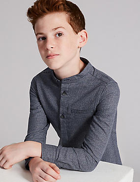 Pure Cotton Grandad Shirt (3-16 Years)