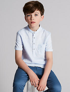 Popover Cotton Blend Shirt (3-16 Years)