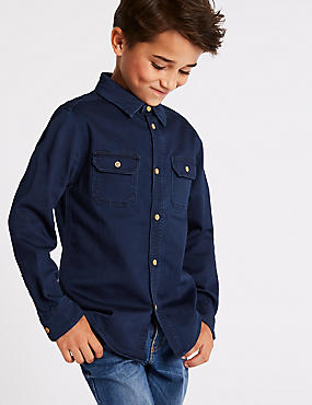 Cotton Rich Denim Shirt (3-16 Years)