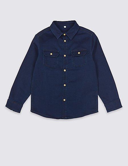 Cotton Rich Denim Shirt (3-16 Years)