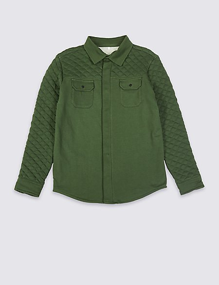 Pure Cotton Quilted Shacket (3-16 Years)