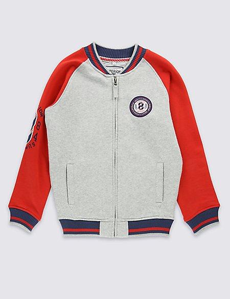 Cotton Rich Baseball Sweatshirt (6-14 Years)