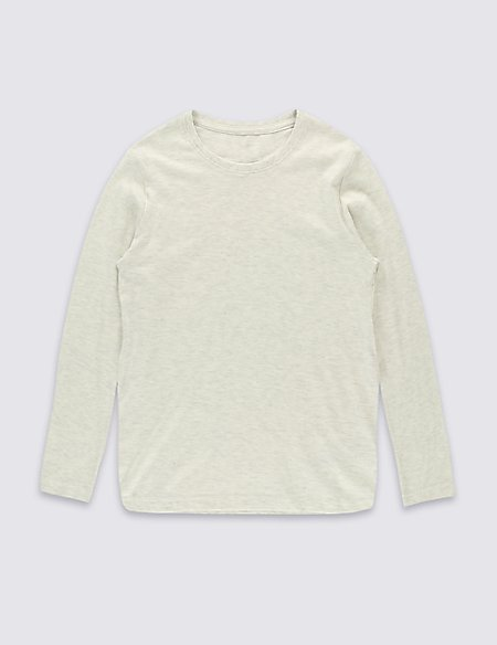 Cotton Rich Long Sleeve T-Shirt (5-14 Years)