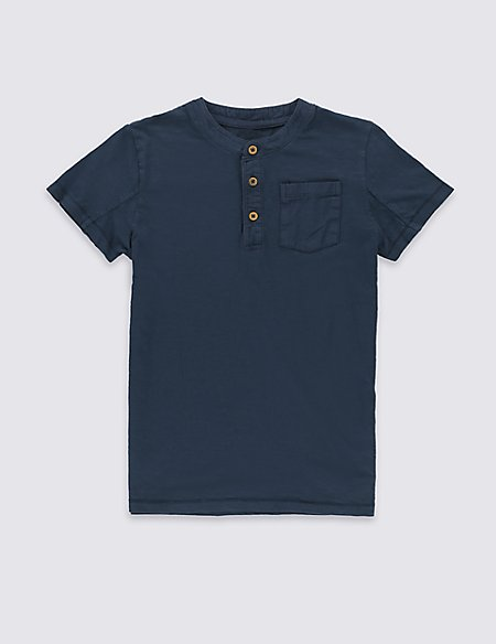 Pure Cotton Short Sleeve T-Shirt (5-14 Years)