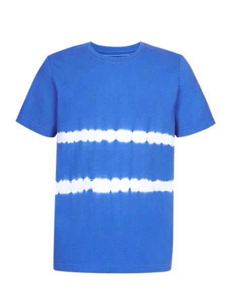 Pure Cotton Tie Dye Striped T-Shirt