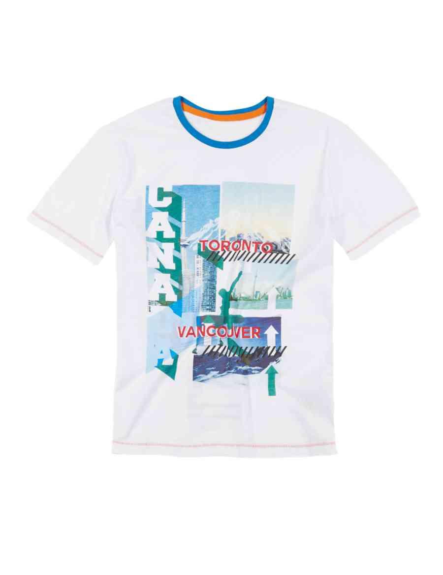 Pure Cotton Toronto Vancouver City Print T Shirt 5 14 Years Ms