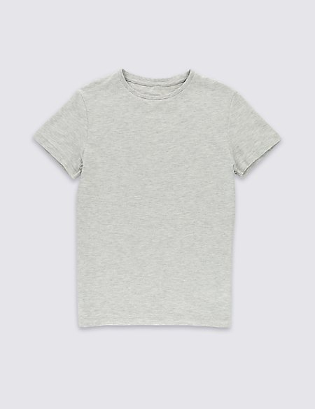 Cotton Rich Short Sleeve Top (5-14 Years)