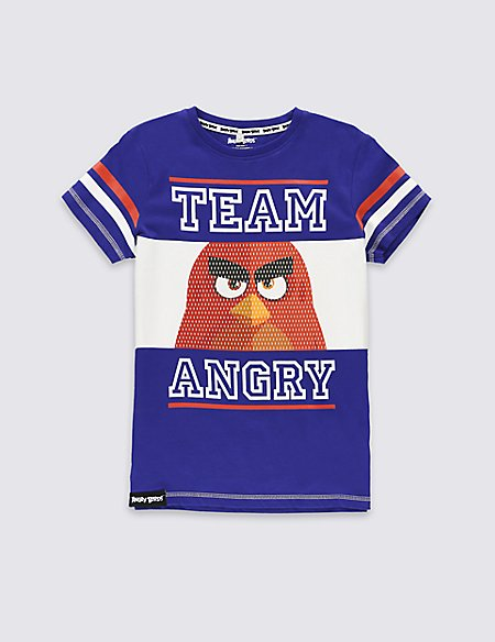 Pure Cotton Angry Birds™ T-Shirt (5-14 Years)