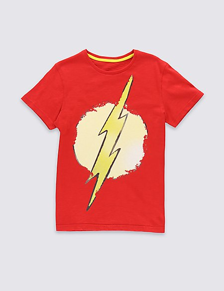 Pure Cotton Flash Logo T-Shirt (5-14 Years)