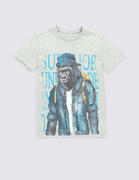 Urban Gorilla Print T-Shirt (5-14 Years)