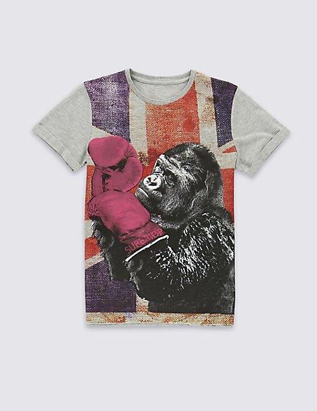 Gorilla Print T-Shirt (5-14 Years)