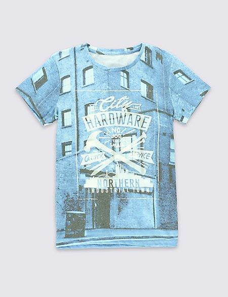 Cotton Rich Short Sleeve Hardware T-Shirt (5-14 Years)