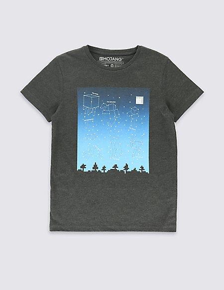 Cotton Rich Minecraft T-Shirt (5-14 Years)