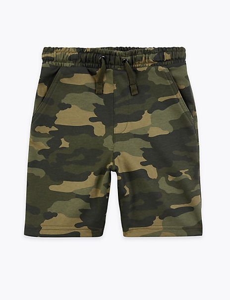 Cotton Rich Camouflage Shorts (6-16 Years)